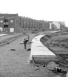 Las obras de urbanización en la avenida Miguel Hernández de Almendralejo estarán finalizadas en este año