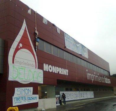 Los trabajadores de Monprint continúan encerrados y no cederán hasta que les paguen