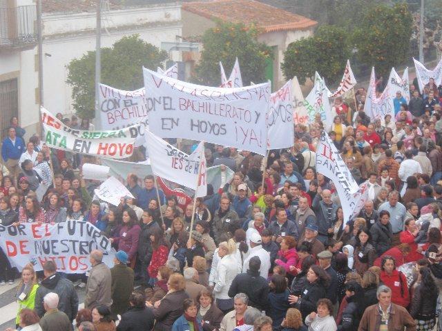 Las Ampas de Sierra de Gata exigirán en Mérida el próximo 11 de marzo la ampliación del IES de Hoyos