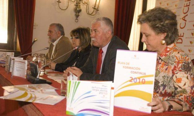 La Diputación presenta los Planes de Formación 2010 para empleados públicos y cargos electos de la provincia