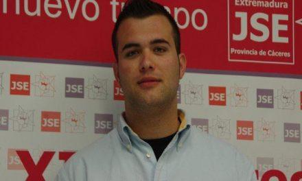 Luis Salaya, estudiante de 21 años, es elegido como nuevo secretario de Juventudes Socialistas de Cáceres