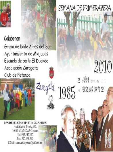 La Residencia San Martín de Porres celebra su tradicional 'Semana de Primavera' en la localidad de Miajadas