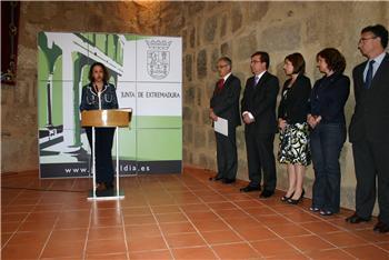 Manuela Holgado toma posesión del cargo como nueva consejera de Cultura y Turismo de Extremadura