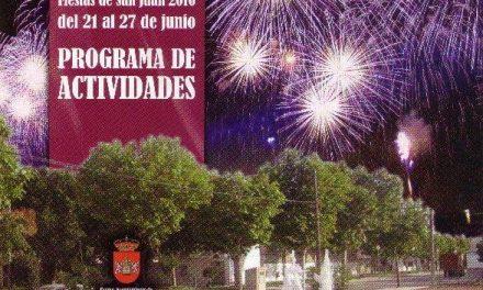 La localidad de Alonso de Ojeda celebrará sus fiestas de San Juan del 21 al 27 de junio con un apretado programa