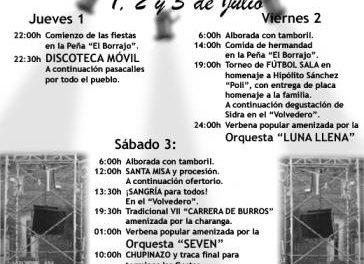 La alquería hurdana de Sauceda celebrará del 1 al 3 de julio sus fiestas en honor a la Virgen Milagrosa