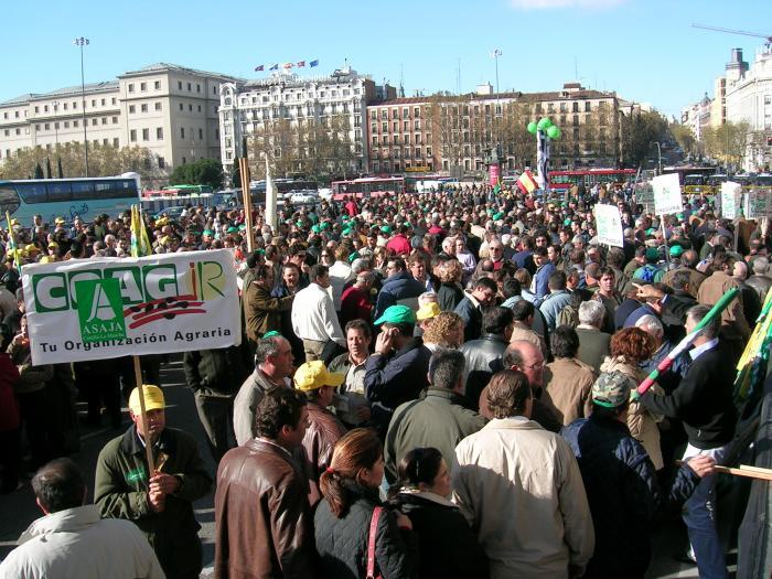 Asaja, Coag y Upa se manifestarán el día 29 en Madrid para exigir medidas urgentes para los ganaderos