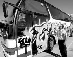 La Guardia Civil detiene a dos jóvenes por realizar pintadas en zonas prohibidas de Cáceres y Malpartida