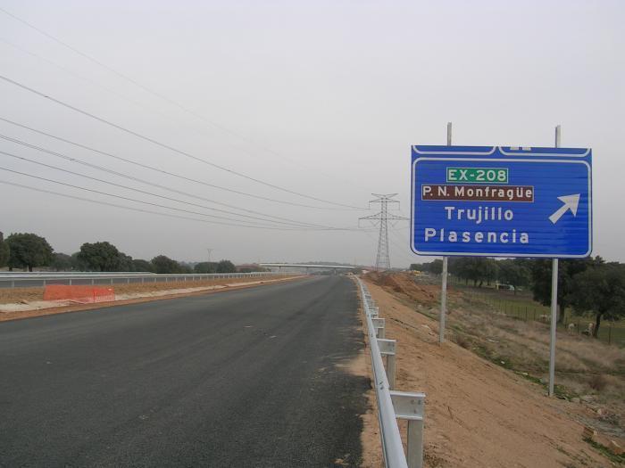 Este jueves será inaugurado el tramo Plasencia-Galisteo de la autovía EX-A1 entre Navalmoral y Portugal