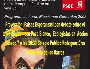 Villafranca de los Barros acoge este sábado un ciclo de cine de Ecología Social con la película «Falsas Esperanzas»