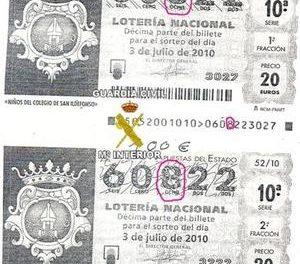La Guardia Civil detiene a un vecino de Castuera acusado de falsificar décimos de lotería y cobrarlos
