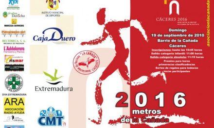 La carrera 2.016 metros de apoyo a la candidatura cacereña se celebrará este domingo día 19