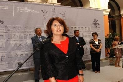 La nueva presidenta de la Confederación Hidrográfica del Tajo, Mercedes Gómez, toma posesión de su cargo