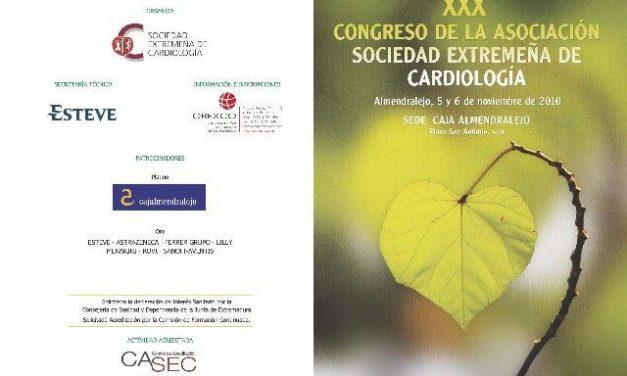 La Sociedad Extremeña de Cardiología organiza su XXX congreso los días 5 y 6 de noviembre en Almendralejo