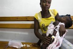 UNICEF distribuye información entre la población de Haití para prevenir el cólera