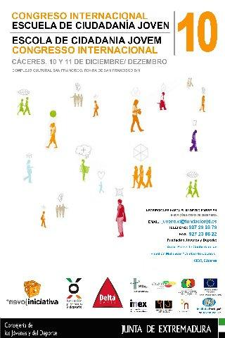 Cáceres acogerá los días 10 y 11 de diciembre el Congreso Internacional de Ciudadanía Joven 2010