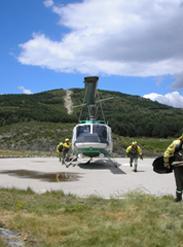 Medio Ambiente refuerza la lucha contra los incendios forestales con 19 helicópteros de transporte de brigadas