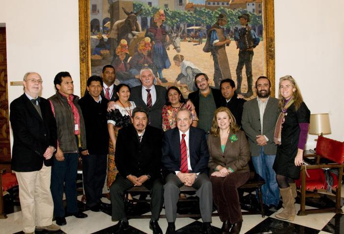 Parlamentarios iberoamericanos de Panamá, Méjico y Guatemala visitan la Diputación de Cáceres