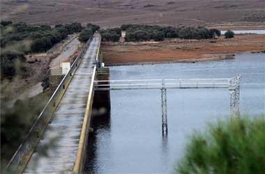 El pantano de Guadiloba de Cáceres está al 59% de su capacidad y no se prevé un desembalse