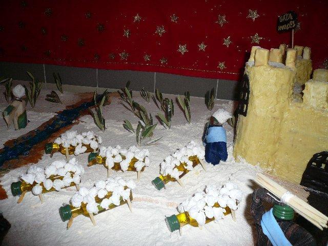 Mensajeros de la Paz recibe la Navidad con un belén comestible elaborado con aceite DOP Gata-Hurdes