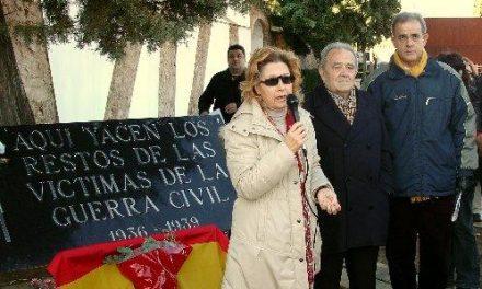 Carmen Heras reivindica en Cáceres la concordia y la justicia en el homenaje a los caídos por la República