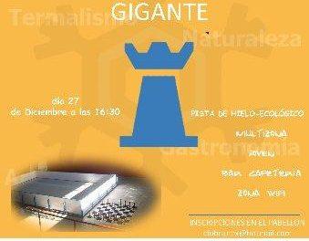 El pabellón polideportivo de Baños de Montemayor acoge este lunes un torneo de ajedrez gigante