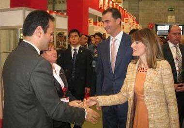 Los Príncipes de Asturias visitan el stand extremeño de la Feria de la Alimentación Food and Hotel de China