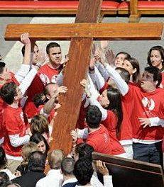 La Cruz de los Jóvenes llega este miércoles a la catedral de Coria con motivo del Día de la Juventud de este verano