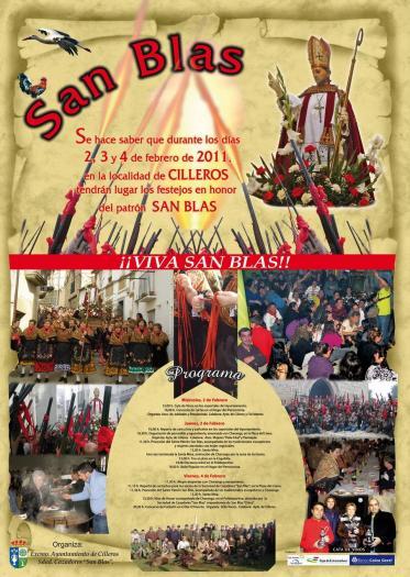 Cilleros celebrará sus fiestas de San Blas del 2 al 4 de febrero con el protagonismo de los escopeteros