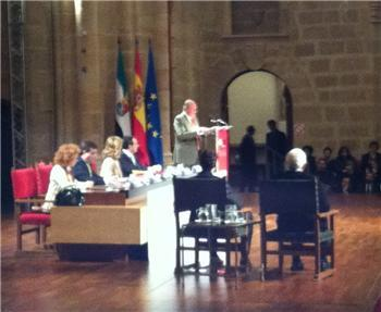 El Rey Don Juan Carlos destaca en Cáceres la apuesta de Extremadura por la innovación y las tecnologías