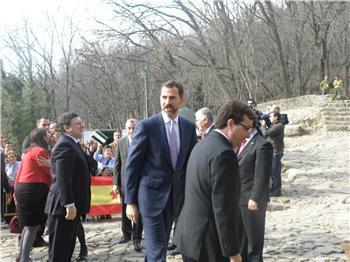 El Príncipe de Asturias preside en Yuste el acto de entrega del premio Carlos V a Javier Solana