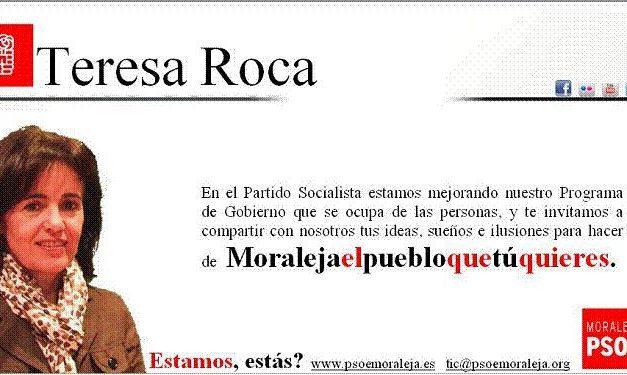 """El PSOE de Moraleja comienza a recoger ideas con la campaña """"Moraleja, el pueblo que tú quieres"""""""