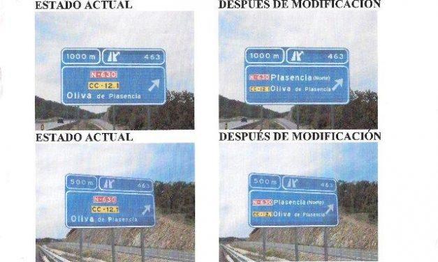 El Ayuntamiento de Plasencia solicita que la entrada Norte a la ciudad desde la A-66 esté señalizada