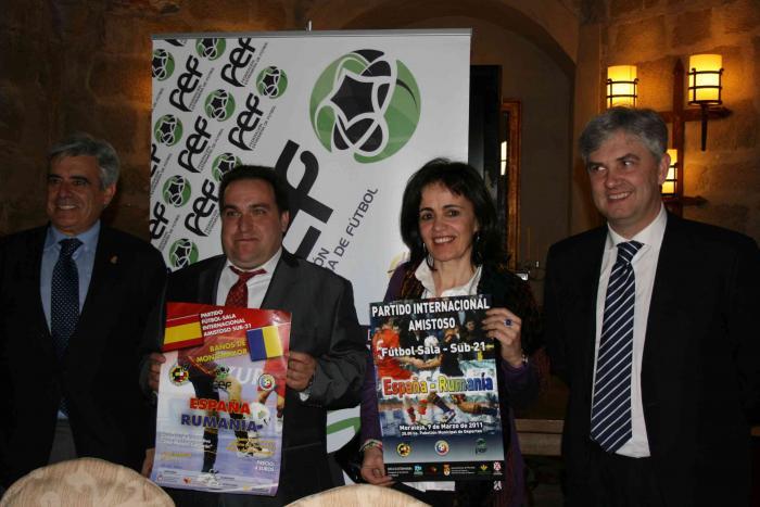 Moraleja y Baños se preparan para recibir a las selecciones sub-21 de fútbol-sala de España y de Rumanía