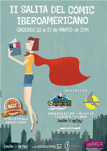 La II Salita del Cómic Iberoamericano se celebrará en Cáceres entre el 22 al 27 de marzo en la Filmoteca