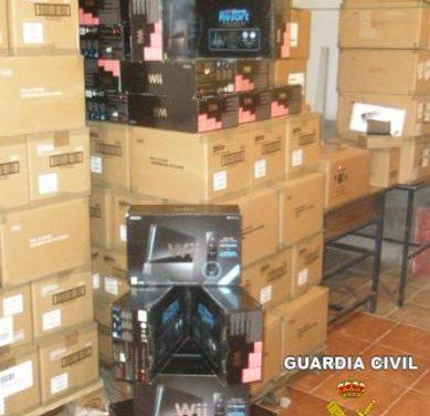 La Guardia Civil recupera en Los Santos de Maimona un camión cargado con 1.500 videoconsolas robadas