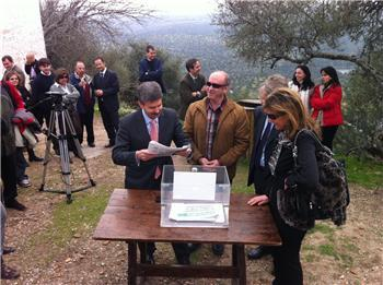 Las obras del Castillo de Monfragüe facilitarán el acceso a las personas con movilidad reducida