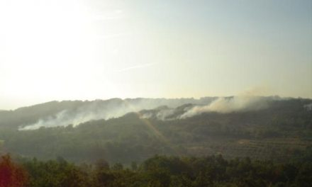 Un incendio en Navasfrías (Salamanca) afecta al paraje de El Rebollar y a la Sierra de Gata cacereña