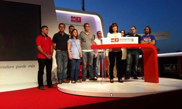 Fernández Vara acusa en Moraleja al Partido Popular de no adquirir compromisos con Extremadura