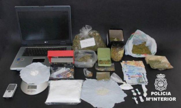La Policía Nacional detiene en Badajoz a un joven de 34 años por tráfico de sustancias estupefacientes