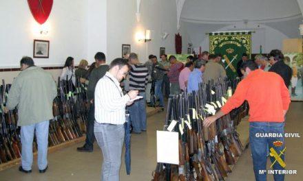 La Comandancia de la Guardia Civil de Badajoz acogerá el día 13 de junio una subasta de 256 armas