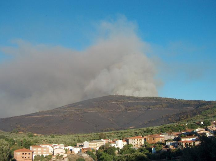 Seis personas se vieron implicadas en Extremadura en algún incendio forestal durante el pasado año