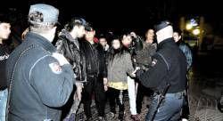 Los antidisturbios impidieron anoche una manifestación ilegal de ultraizquierdistas en Cánovas