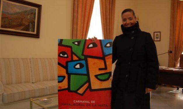 El diseñador emeritense Víctor M. Viñuales gana el concurso del cartel del Carnaval de Navalmoral