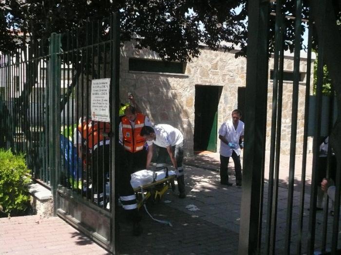 Un vecino de La Moheda sufre un mareo en el parque Alfanhuí de Moraleja y es derivado al hospital de Coria