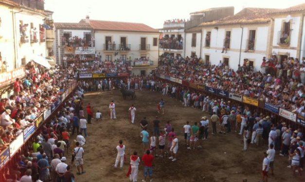 Un toro tranquilo y la visita del nuevo presidente de la Asamblea marcan la tarde festiva de la Peña El 27