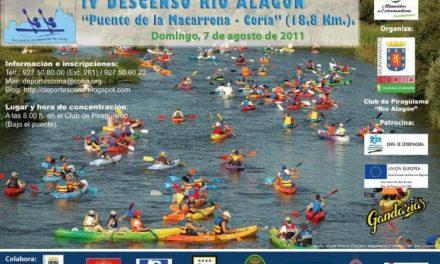 Coria acogerá el domingo 7 de agosto el IV descenso del río Alagón desde el puente de la Macarrona