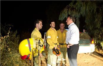 El incendio de Oliva de Mérida, declarado ayer martes, está ya controlado y ha calcinado 207 hectáreas