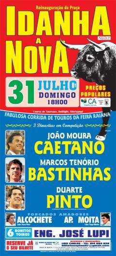 Idanha-a-Nova celebrará una gran corrida de toros el 31 de julio con motivo de la XV edición de la Feria Rayana