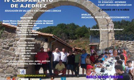 Baños de Montemayor acogerá del 16 al 23 de agosto el IV Campamento de Ajedrez para niños