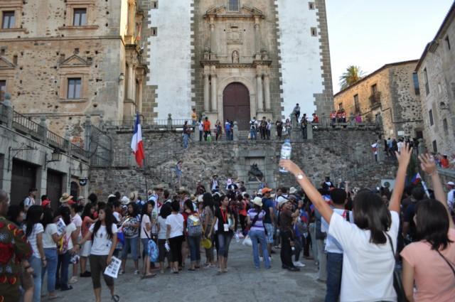 Las familias de Coria-Cáceres anfitrionas de los peregrinos valoran la experiencia como «inolvidable» y con éxito